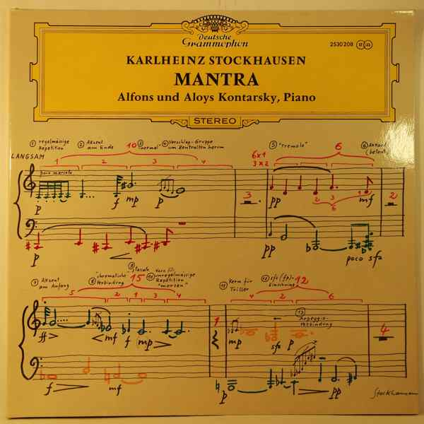 KARLHEINZ STOCKHAUSEN - Mantra - LP