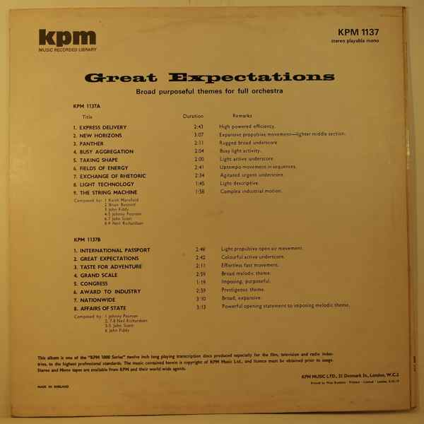 VARIOUS - Great Expectations - LP