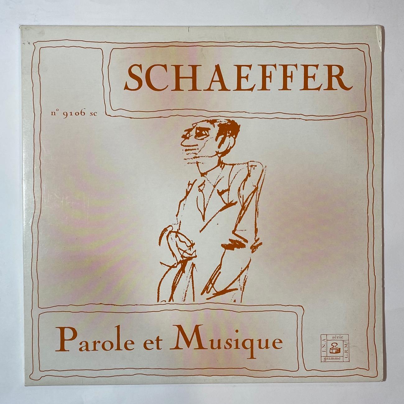 PIERRE SCHAEFFER - Parole Et Musique - LP