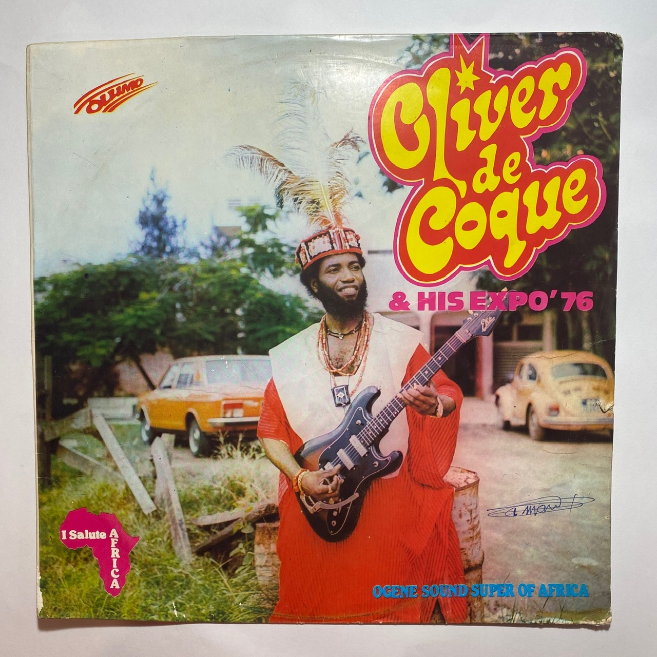 Oliver de Coque and his Expo 76 I salute Africa