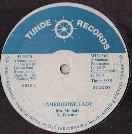 Brother Mudada Tambourine lady