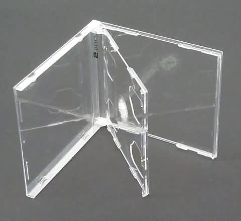 BOITIER CRISTAL CD DOUBLE LUXE - PLATEAU TRANSPARENT - 10 x BOITIER CRISTAL CD DOUBLE LUXE - Plateau transparent - Protection