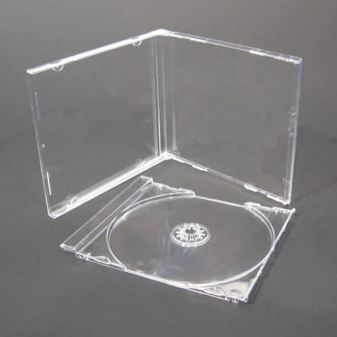 BOITIER CD CRISTAL SIMPLE 1 CD - PLATEAU TRANSPARENT - 10 x BOITIER CD CRISTAL SIMPLE 1 CD - PLATEAU (TRAY) TRANSPARENT - Protection