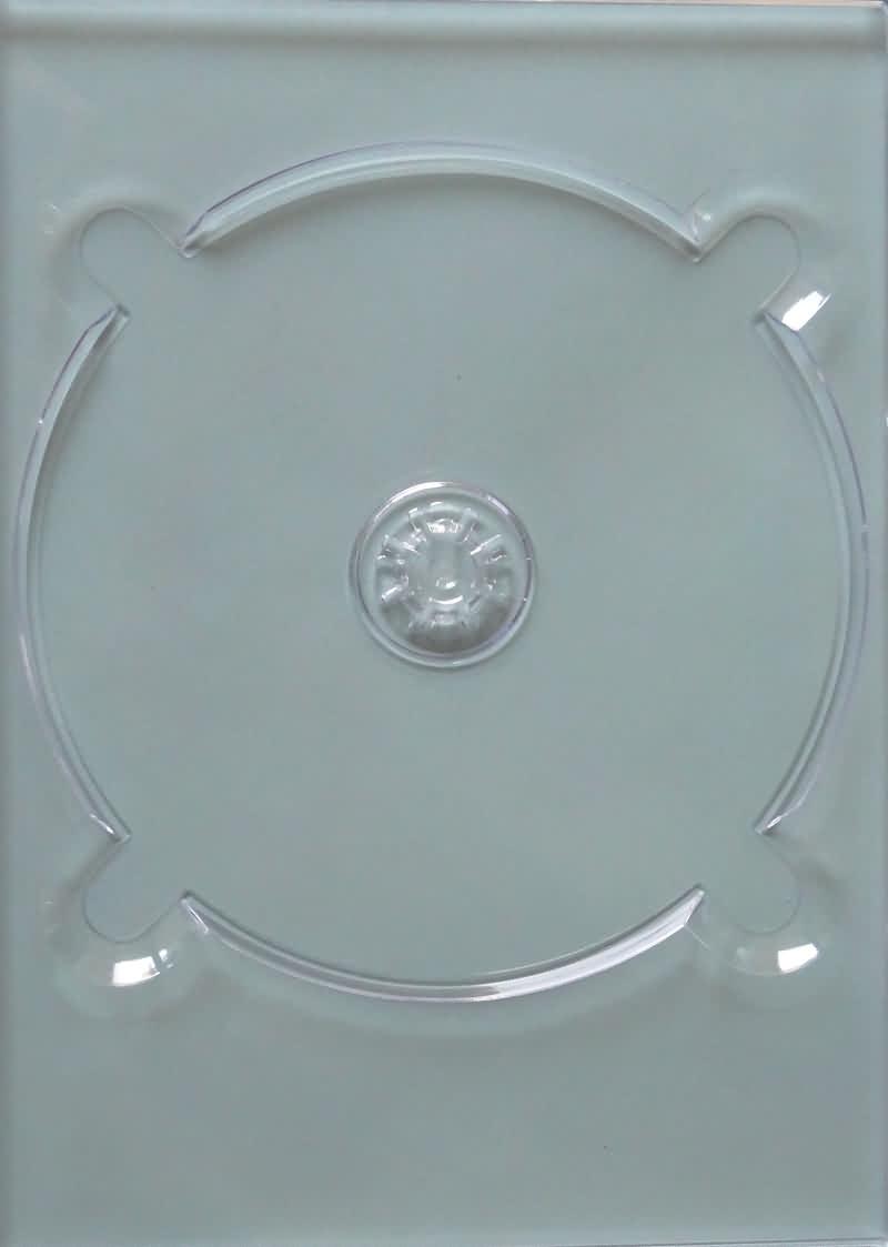 PLATEAU TRANSPARENT (CALE) À COLLER - FLEXITRAY PO - 20 x PLATEAU TRANSPARENT (CALE) à coller - Digitray pour DVD DIGIPACK - Excentré - 1000 gr